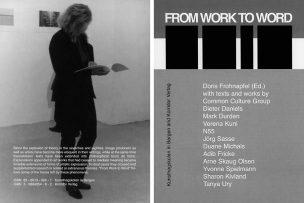 With texts and works by Common Culture Group, Dieter Daniels, Mark Durden, Verena Kuni, N55, Jörg Sasse, Duane Michals, Adib Fricke, Arne Skaug Olsen, Yvonne Spielmann, Sharon Kivland, Tanya Ury and Doris Frohnapfel (Ed.).  112 pages, 82 b/w images, texts in English, 16,0 x 21,5 cm. National Academy of the Arts Bergen (ISBN 82-8013-024-1)/ Korridor Verlag Köln (ISBN 3-9804354-8-2) 2002
