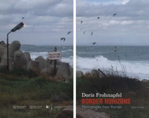 BORDER HORIZONS - Photographs from Europe, 2005 261 photographs and texts by Ulli Seegers and Doris Frohnapfel, 72 quotations from European newspapers, 104 web-cam images, 63 picture postcards and email interviews with Maja Bajevic, Thierry Geoffroy, Ron Haselden, Dan Mihaltianu, Tanya Ury and Anu Vahtra.  240 pages, 18,4 x 31,2 cm, colour, hardcover.  National Academy of the Arts Bergen (ISBN 82-8013-047-0)/ Salon Verlag Köln (3-89770-241-X) 2005